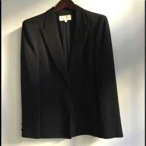 Badgley Mischka black tuxedo jacket